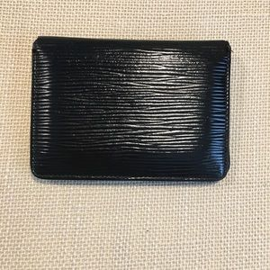 Authentic Louis Vuitton epi lesther id holder